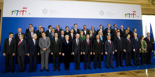 """Eastern Partnership Summit"" family photo, 30 September 2011, Warsaw. via flickr member europeancouncil"